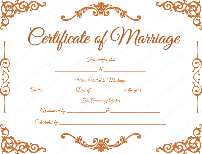 buy marriage certificate